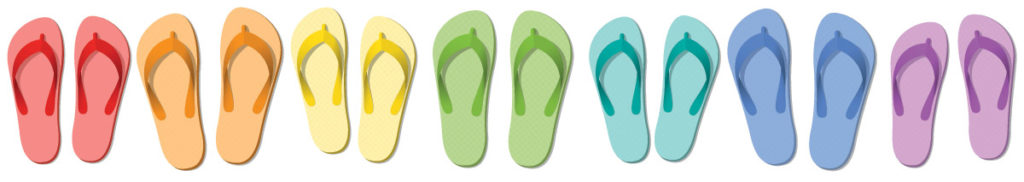 graduation gifts don't have to be complicated, flip-flops and slippers are easy and useful