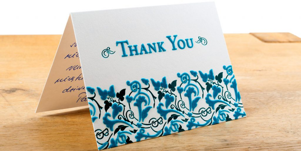 The Dreaded Graduation Thank You Notes Big Thank you Note with embossed Paper